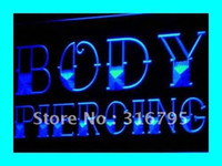 Wholesale i344 b Body Piercing Tattoo Shop NEW NR Neon Light Sign
