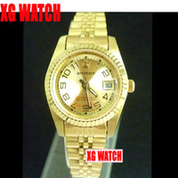 big old lady - Big Digital Watches For Old Ladies Full Gold Wristwatch Saphire Mirror Solid Steel Belt Watch Date