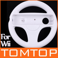Wholesale Steering Wheel for Wii Kart Racing Game White F1301W