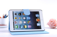 Wholesale 10pcs Fashion Diamond Book Leather Case Cover With Stand Credit Card Holder for Apple iPad Mini