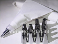 Wholesale 2013 new Stainless Steel Cake Decorator Cream Presser Cotton Icing Piping Bag Set