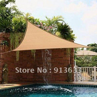 Wholesale 2012 new Triangle Sun Shade Sail Canopy m ft Pre Attached Rope No Tools Needed