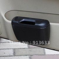 Wholesale 2012 new3 Mini Car Trash Bin Garbage Can Super Quality Black Dt596