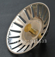 Wholesale 2013 new Kitchen Stainless Steel Basket Sink Mesh Strainer Waste Plug mm