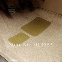 Wholesale Auto Car Thickening Plush D Skidproof Floor Mat Foot Pad Carpet Beige Gray