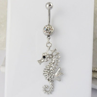 Wholesale Sea Horse Navel Ring Belly Button Ring Body Jewelry