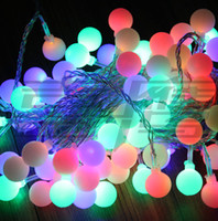 Wholesale 220V V decoration light LED x Mtrs ball light strings
