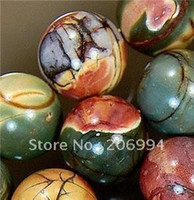 Crystal crystal beads strands - natural mm picasso jasper gemstone round ball loose bead strand quot fashion jewelry