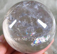 Wholesale natural quartz rock crystal sphere ball mm stand crystal handicraft