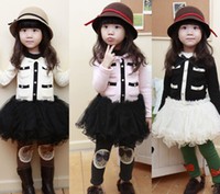 5.7.9.11.13 Winter Long Sleeve Wholesale- Girl Dress Bow Net yarn Dress Thickening and cashmere tutu Skirt Children dress 5s l