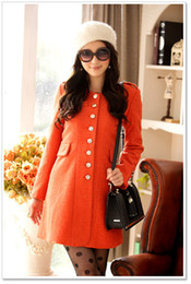Wholesale 2013 Hot saling women coats Fashion Korean big wind exquisite thin waist tweed coat buttons