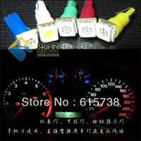 Wholesale 100 pieces per T5 smd smd car led instrument tray lamp button indicator lamp Dash light button light indicator lights
