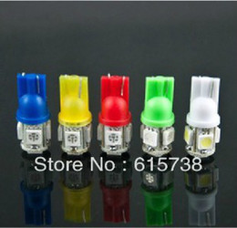 100* White RED BLUE YELLOW PINK GREEN T10 5050 5smd chip led light show wide line lights reading lamp license plate lamp w5w