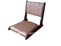 Wholesale Japanese Tatami Chair with brown Chinese letter