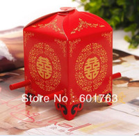 Wholesale Wedding Favor Chinese Red Double Happiness Bridal Sedan Chair Wedding favor box