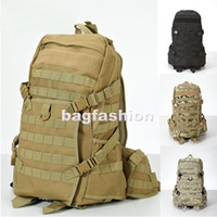 Wholesale Tactical military backpack Molle Camouflage shoulder bag Outdoor Sports bag Camping Hiking drop ship