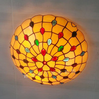 Wholesale Factory direct inch the American retro ceiling lamps Tiffany stained glass art of living room be