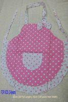 Wholesale Kid Size Girl s Pink Dot polka Cotton Apron kitchen cooking baking supplies