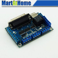 Wholesale axis CNC Breakout Board Card USB MACH3 EMC2 KCAM4 for Stepper Motor Driver SM379 CF