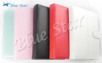 Wholesale Cheap Inch Black White Red Pink Light Blue Leather Case for Tablet PC