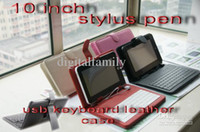 Wholesale Cheap USB keyboard leather case for inch Android Tablet pc epad apad flytouch C1249