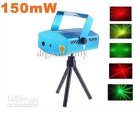 Wholesale Retail mW Mini Red Green Moving Party Laser LED Stage Light