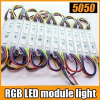 Wholesale led strip RGB Warteproof SMD LED module lamp light DC12V input string
