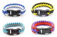 Wholesale Outdoor Products survival escape life saving bracelet paracord Hand Made with plastic buckle BR