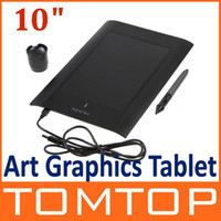 Wholesale 10 quot Art Graphics Drawing Tablet Cordless Digital Pen for Laptop Computer LPI Levels C1405B