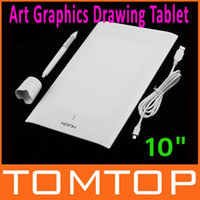 "set Wired  10"" inch Art Graphics Drawing Tablet with Cordless Digital Pen for PC Laptop Computer C1405W"
