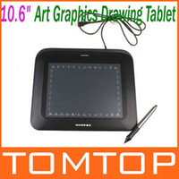 Wholesale 10 quot Art Graphics Drawing Tablet Hot Keys Cordless Digital Pen for PC Laptop Computer C1406