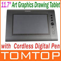 Wholesale 11 quot Art Graphics Drawing Tablet Hot Keys Cordless Digital Pen for PC Laptop Computer C1407
