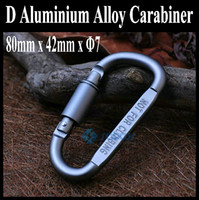 Wholesale Special Offer High Quality D type Karabiner Quickdraw Lockable Aluminum Alloy Carabiner