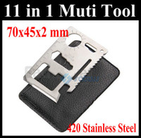 Cheap 11 in 1 Multi Emergency Survival Pocket Knife Tool Credit Card Steel