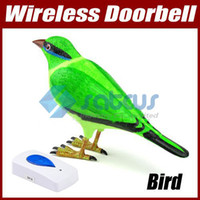 Wholesale Free Shiping Wireless Sparrow Bird Doorbell Remote Control Chime Green