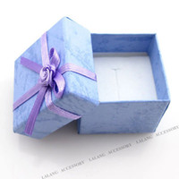 Wholesale 2013 New Marriage Wedding Gift Purple with Flower Square Paper Jewellery Packaging amp Gift Box