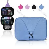 Wholesale New Bath Hanging Folding Travel Waterproof Wash Bag Travel Receive Bags Supplies Makeup bag