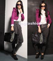 Plain ladies designer scarf - 3PCS designer women leather handbags zipper bag With Leopard Scarf fashion lady bag free shippin