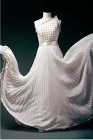 Cheap Chiffon fashion dress Best Sleeveless Floor-Length white eveing dress