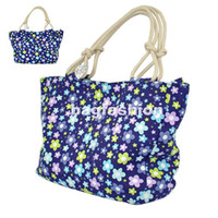 Wholesale Fashion Women s canvas tote bag Trend Casual Cotton bag Rope Shoulder handbag china drop s