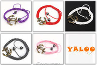 anchor jewelry - 8pcs Jewelry Colors Believe Charms Infinite Nautical Sailing Anchor Simple Braided Bracelet