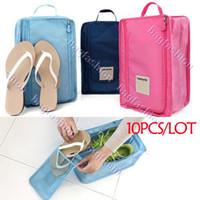Wholesale 10PCS Travel waterproof ventilation shoe bags Pouch Storage organizer slipper bag