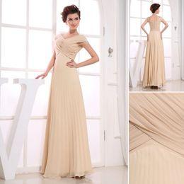 Wholesale 2013 Honorable A line Cap Short Sleeve Beads Applique Champine chiffon Mother of Bride Dresses