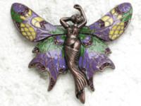 amethyst brooches jewelry - C877 D Amethyst Crystal Rhinestone Enameling Fairy Angel Butterfly Pin Brooch Jewelry