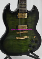 Solid Body 6 Strings Mahogany New Arrival Green SG Model Electric Guitar OEM From China High guitar