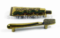 Wholesale 12pcs Zinc alloy toothpaste cabinet handle zinc alloy handle drawer handle handle