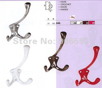 Red;White;Antique silver or Brown aluminium coat hooks - 6pcs Colourful aluminium alloy coat hook bathroom hook hook