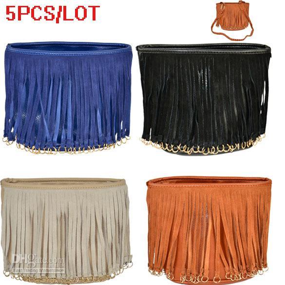 Handbag Small Bag Woven Bags Of Leather Tassel Shoulder Messenger ...