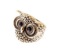 Band Rings mens jewelry cheap - The Cheap Owl Rings Antique Gold Silver Womens Mens Ring Jewelry Colors Mix