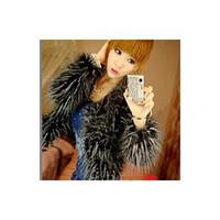 Cotton ancient silk - The ostrich hair noble temperament to restore ancient ways long feather melange imitation fur coat